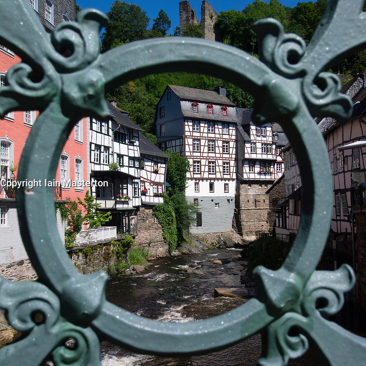 Historic village of Monschau in Eifel Region  Germany