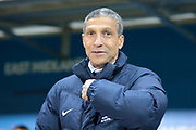 Brighton & Hove Albion manager Chris Hughton during the EFL Sky Bet Championship match between Rotherham United and Brighton and Hove Albion at the AESSEAL New York Stadium, Rotherham, England on 7 March 2017. Photo by Mark P Doherty.
