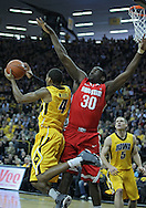 January 07, 2011: Iowa Hawkeyes guard/forward Roy Devyn Marble (4) looks to pass as Ohio State Buckeyes forward Evan Ravenel (30) defends during the the NCAA basketball game between the Ohio State Buckeyes and the Iowa Hawkeyes at Carver-Hawkeye Arena in Iowa City, Iowa on Saturday, January 7, 2012.