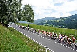 07.07.2011, AUT, 63. OESTERREICH RUNDFAHRT, 5. ETAPPE, ST. JOHANN-SCHLADMING, im Bild das Feld der Fahrer in Schladming // during the 63rd Tour of Austria, Stage 5, 2011/07/07, EXPA Pictures © 2011, PhotoCredit: EXPA/ S. Zangrando