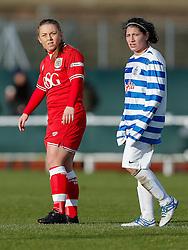 Paige Sawyer of Bristol City Women looks on - Mandatory byline: Rogan Thomson/JMP - 14/02/2016 - FOOTBALL - Stoke Gifford Stadium - Bristol, England - Bristol City Women v Queens Park Rangers Ladies - SSE Women's FA Cup Third Round Proper.