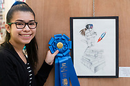 Town of Wallkill, New York - Michelle Hernandez of Middletown High School won the first-place People's Choice Award during the 2018 All-County Musical Showcase and Visual Arts Display at the Galleria at Crystal Run on Feb. 24, 2018.