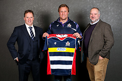 Jordan Crane of Bristol Rugby poses with his sponsors during the Bristol Sport player sponsor evening - Rogan/JMP - 19/03/2018 - SPORT - Ashton Gate Stadium - Bristol, England - Big Sports Breakfast 2017.