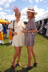 Left to right, sisters ALEXIA INGE and model OLIVIA INGE  at the final of the Veuve Clicquot Gold Cup 2007 at Cowdray Park, West Sussex on 22nd July 2007.<br />