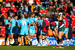 Worcester Warriors celebrate victory over Leicester Tigers - Mandatory by-line: Robbie Stephenson/JMP - 23/09/2018 - RUGBY - Welford Road Stadium - Leicester, England - Leicester Tigers v Worcester Warriors - Gallagher Premiership
