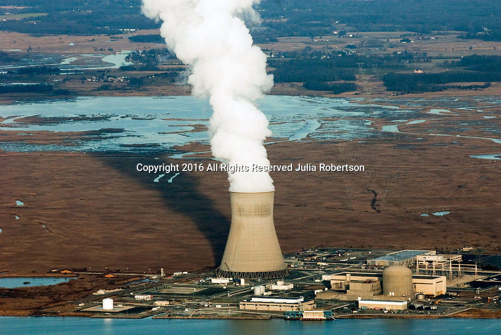 Aerial view of PSEG Nuclear<br /> PSEG Nuclear operates the Salem and Hope Creek Nuclear Generating Stations in Lower Alloways Creek, NJ