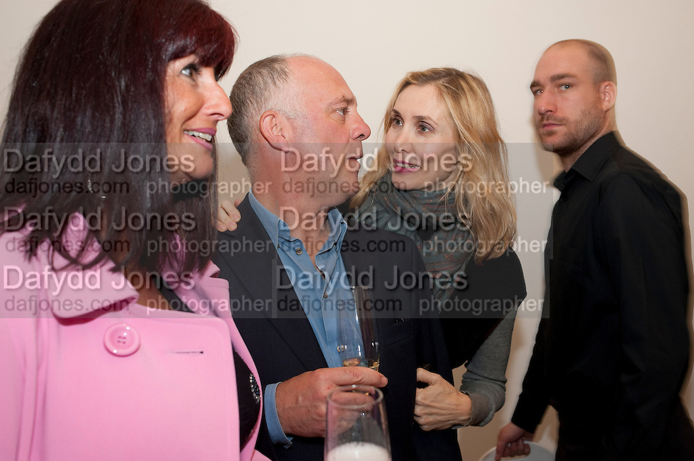 ANGIE DRAKE; BEN LANGLANDS; ( OF LANGLANDS AND BELL)  ALLEGRA HICKS, Richard Wilson Vertu Global Art Commission. Saatchi Gallery. Duke of York's HQ. London. 13 April 2011. -DO NOT ARCHIVE-© Copyright Photograph by Dafydd Jones. 248 Clapham Rd. London SW9 0PZ. Tel 0207 820 0771. www.dafjones.com.