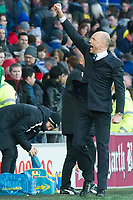 Football - 2013 / 2014 FA Cup - Fifth Round: Cardiff City vs. Wigan Athletic<br /> <br /> wigan manager Uwe Rösler<br />  celebrates as the final whistle blows at the Cardiff City Stadium<br /> <br /> COLORSPORT/WINSTON BYNORTH