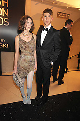 Anouck Lepere and JEFFERSON HACK at the 2008 British Fashion Awards held at the Lawrence Hall, Westminster, London on 25th November 2008.