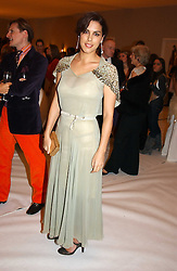 JESSICA DE ROTHSCHILD at the Moet & Chandon Fashion Tribute 2005 to Matthew Williamson, held at Old Billingsgate, City of London on 16th February 2005.<br />