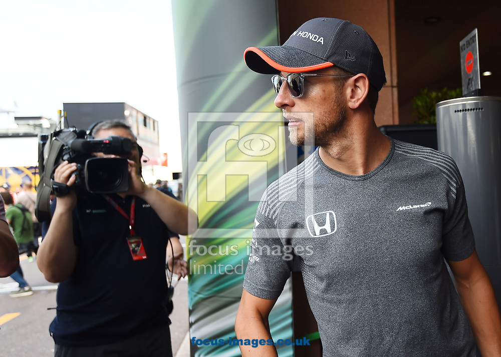 Jenson Button of McLaren Honda during the practice session for the 2017 Monaco Formula One Grand Prix at the Circuit de Monaco, Monte Carlo<br /> Picture by EXPA Pictures/Focus Images Ltd 07814482222<br /> 25/05/2017<br /> *** UK &amp; IRELAND ONLY ***<br /> <br /> EXPA-EIB-170525-0008.jpg
