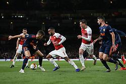Alexandre Lacazette of Arsenal runs at Gabriel Paulista of Valencia in the box - Mandatory by-line: Arron Gent/JMP - 02/05/2019 - FOOTBALL - Emirates Stadium - London, England - Arsenal v Valencia - UEFA Europa League Semi-Final 1st Leg