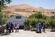 Visitors browse around the historic Alviso Adobe home during the Milpitas Historical Society's Community Tour at Alviso Adobe Park in Milpitas, California, on June 28, 2014. (Stan Olszewski/SOSKIphoto)