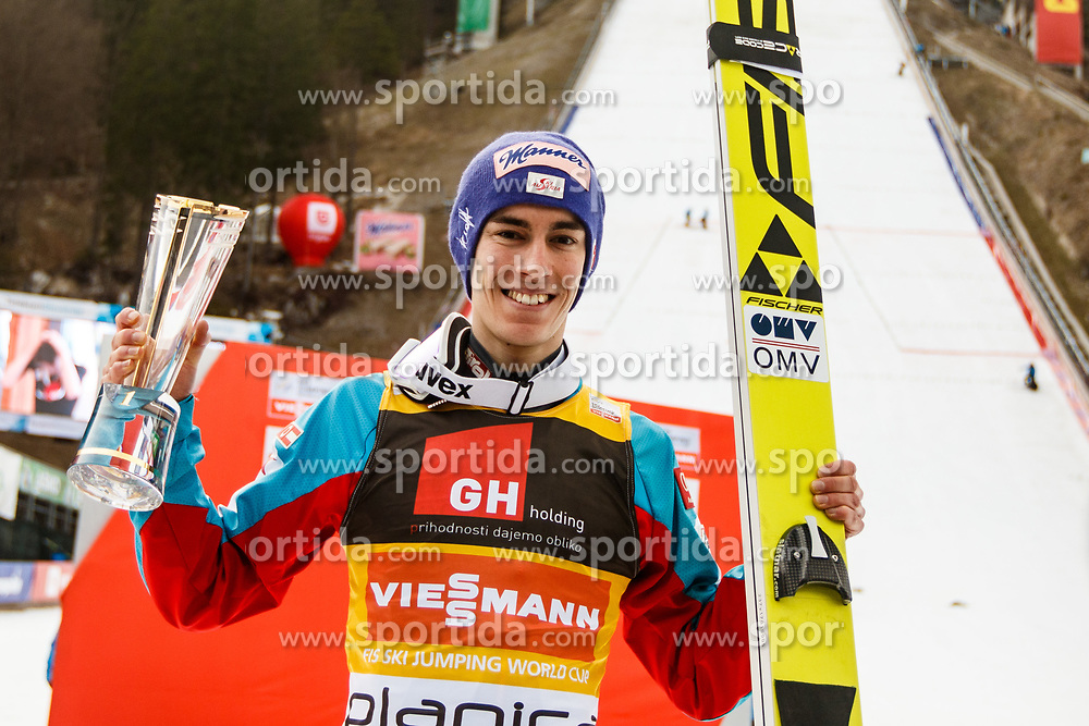 Stefan Kraft of Austria after trophy ceremony during the Ski Flying Hill Individual Competition on Day Two of FIS Ski Jumping World Cup Final 2017, on March 24, 2017 in Planica, Slovenia. Photo by Grega Valancic / Sportida