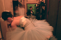 Royal Ballet corps backstage before Scenes de Ballet. Mariinsky Theatre,St. Petersburg, Russia
