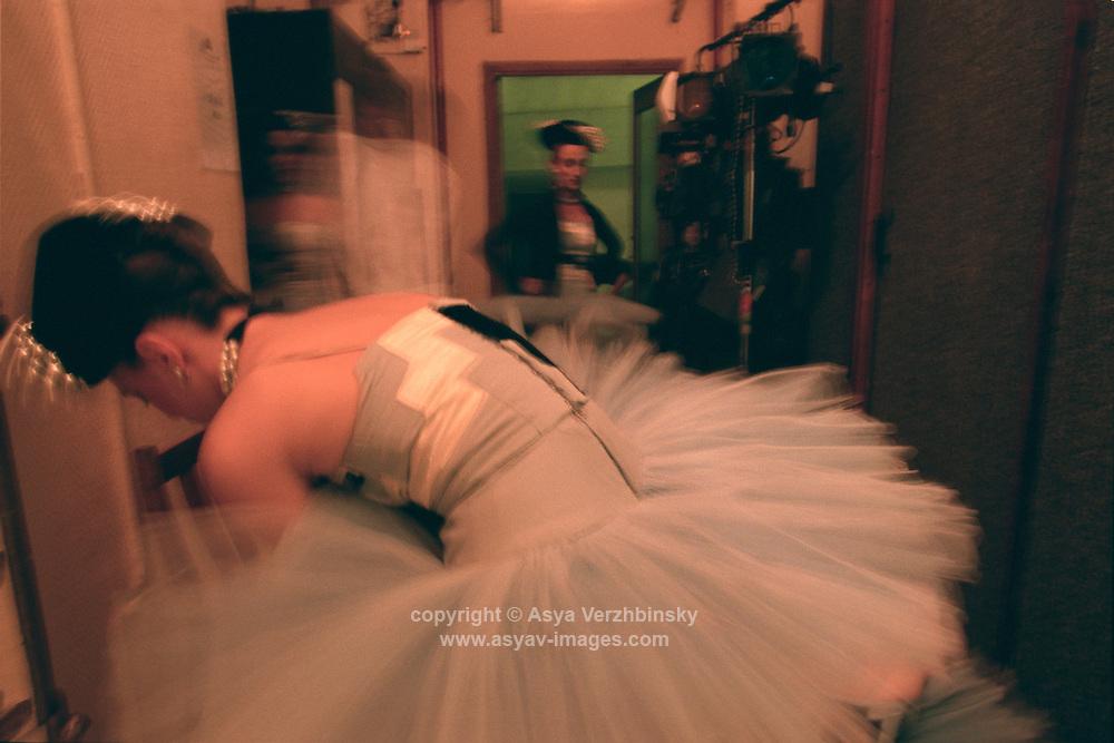 Royal Ballet corps backstage before Scenes de Ballet. Mariinsky Theatre,St. Petersburg, Russia