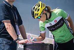 Doris Schweizer signs in for Cylance Pro Cycling.