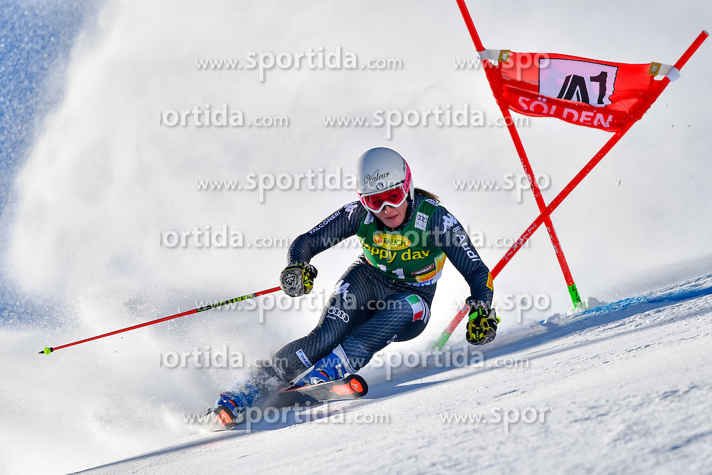 22.10.2016, Rettenbachferner, Soelden, AUT, FIS Weltcup Ski Alpin, Soelden, Riesenslalom, Damen, 1. Durchgang, im Bild Nadia Fanchini (ITA) // Nadia Fanchini of Italy in action during 1st run of ladies Giant Slalom of the FIS Ski Alpine Worldcup opening at the Rettenbachferner in Soelden, Austria on 2016/10/22. EXPA Pictures &copy; 2016, PhotoCredit: EXPA/ Nisse Schmid<br /> <br /> *****ATTENTION - OUT of SWE*****