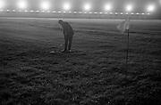 14/05/1965<br /> 05/14/1965<br /> 14 May 1965<br /> New Golf Range at Leopardstown, Foxrock, Dublin. Image shows Golfer on the range at night under lights.