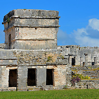 Temple of the Frescos at Mayan Ruins in Tulum, Mexico<br />
