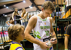 Zoran Dragic of Slovenia after the friendly basketball match between National teams of Slovenia and Ukraine at day 3 of Adecco Cup 2014, on July 26, 2014 in Rogaska Slatina, Slovenia. Photo by Vid Ponikvar / Sportida.com