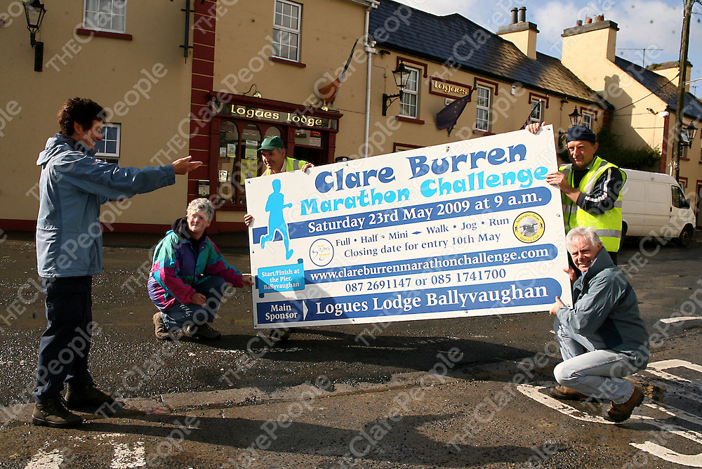 Mary Howard with Berna McNamee, Kevin McCormack, Michael Queally and Gerry Reidy getting ready for the 2nd annual Burren Maraton on the 23rd May.<br /> Photograph by Yvonne Vaughan
