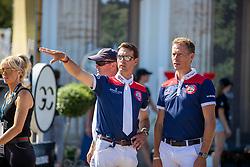 PHILIPPAERTS, Nicola (BEL), AHLMANN, Christian (GER)<br /> Berlin - Global Jumping Berlin 2019<br /> Parcoursbesichtigung<br /> CSI5* - Preis der Deutsche Vermögensberatung AG - DVAG<br /> GCL Team-Wettbewerb, 1. Runde <br /> Springprüfung nach Strafpunkten und Zeit für Teams und Einzelreiter, international<br /> 26. Juli 2019<br /> © www.sportfotos-lafrentz.de/Stefan Lafrentz