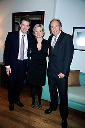 Left to right, JAMES OGILVY and LORD & LADY BRUCE DUNDAS at the Linley Christmas party at their store at 60 Pimlico Road, London on 19th November 2008.