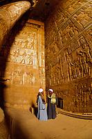 Hieroglyphics, Dendera Temple (Temple of Hathor), Dendera, Egypt