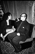 Minnie Driver & Jack Nicholson at the  Cafe de Paris. London.  1989