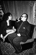 Minnie Driver & Jack Nicholson at the  Cafe de Paris. London.  1989