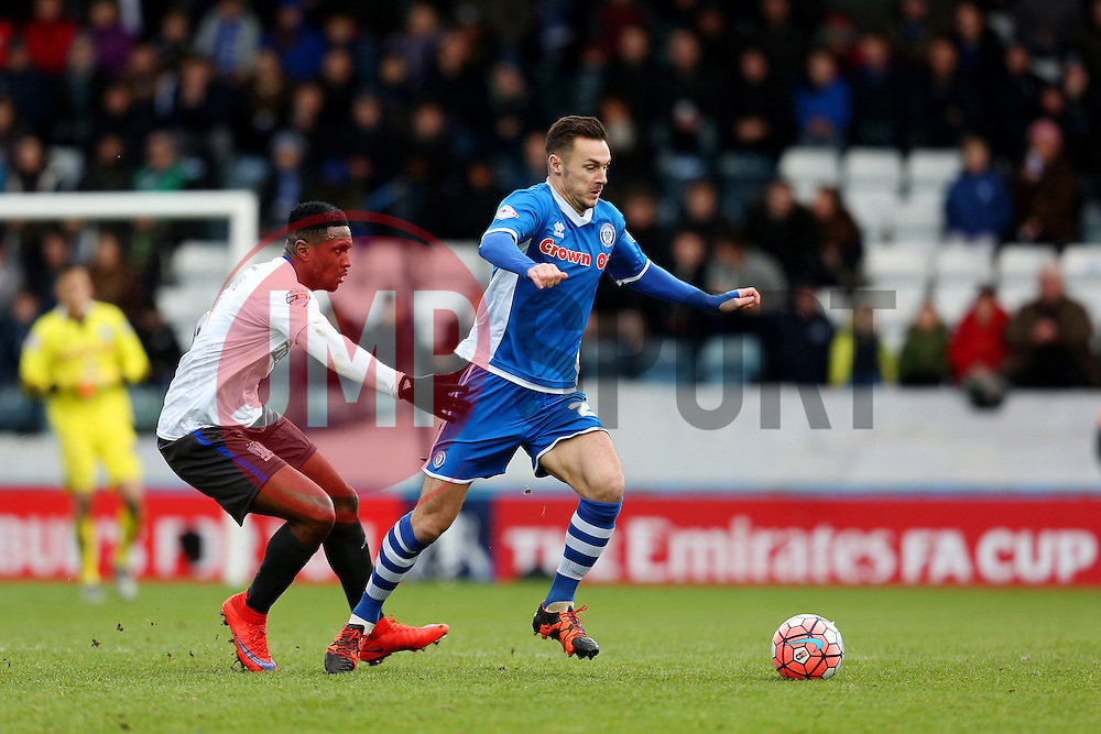 Michael Rose of Rochdale attacks - Mandatory byline: Matt McNulty/JMP - 06/12/2015 - Football - Spotland Stadium - Rochdale, England - Rochdale v Bury - FA Cup