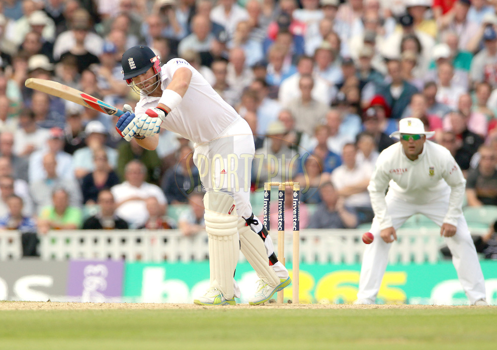 © Andrew Fosker / Seconds Left Images 2012 -England's Matt Prior (WK)  clips the ball away through mid wicket  England v South Africa - 1st Investec Test Match -  Day 2 - The Oval  - London - 20/07/2012