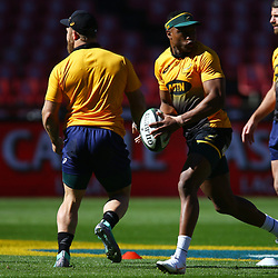 Aphiwe Dyantyi of South Africa during the South African - Springbok Captain's Run at Emirates Airline Park,<br /> Johannesburg .South Africa. 08,06,2018 Photo by (Steve Haag Sports)