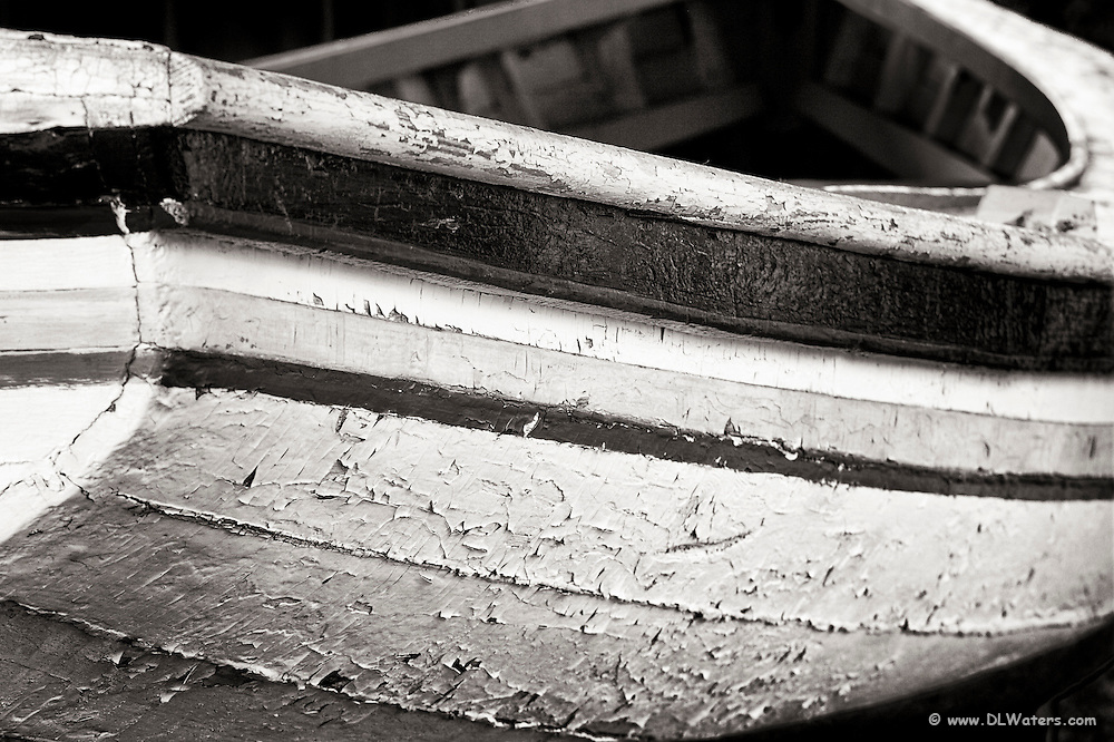 Boat on display at the boat house in Manteo, NC.