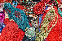 Beaded necklaces, Patan (Lalitpur), Kathmandu Valley, Nepal.