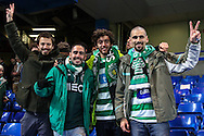 Sporting Clube de Portugal fans before the UEFA Champions League match at Stamford Bridge, London<br /> Picture by David Horn/Focus Images Ltd +44 7545 970036<br /> 10/12/2014