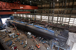 NEWPORT NEWS, Va. (Oct. 5, 2012) The Virginia-class attack submarine Pre-Commissioning Unit (PCU) Minnesota (SSN 783) under construction at Newport News Shipbuilding. The U.S. Navy is reliable, flexible, and ready to respond worldwide on, above, and below the sea. Join the conversation on social media using #warfighting. (U.S. Navy photo by Chris Oxley/Released) 121005-N-ZZ999-001<br /> Join the conversation<br /> http://www.facebook.com/USNavy<br /> http://www.twitter.com/USNavy<br /> http://navylive.dodlive.mil