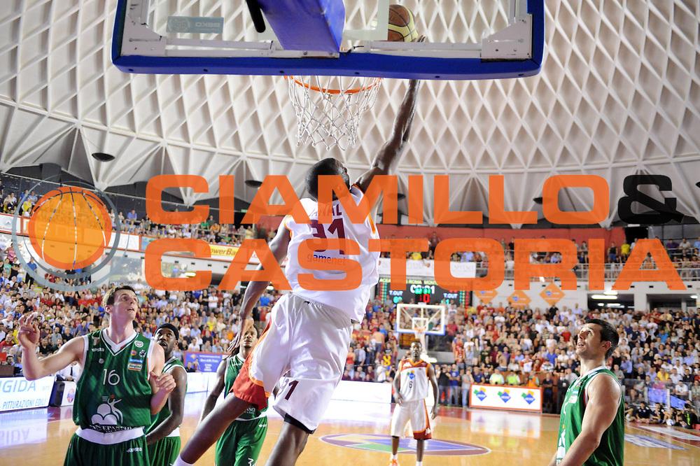 DESCRIZIONE : Roma Lega A 2012-2013 Acea Roma Montepaschi Siena  playoff finale gara 2<br /> GIOCATORE : Gani Lawal <br /> CATEGORIA : Tiro<br /> SQUADRA : Acea Roma<br /> EVENTO : Campionato Lega A 2012-2013 playoff finale gara 2<br /> GARA : Acea Roma Montepaschi Siena<br /> DATA : 13/06/2013<br /> SPORT : Pallacanestro <br /> AUTORE : Agenzia Ciamillo-Castoria/Max.Ceretti<br /> Galleria : Lega Basket A 2012-2013  <br /> Fotonotizia : Roma Lega A 2012-2013 Acea Roma Montepaschi Siena playoff finale gara 2<br /> Predefinita :