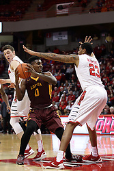 06 January 2016: Deontae Hawkins(23) defends Donte Ingram(0) during the Illinois State Redbirds v Loyola-Chicago Ramblers at Redbird Arena in Normal Illinois (Photo by Alan Look)
