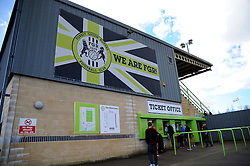 The New Lawn. - Photo mandatory by-line: Nizaam Jones - Mobile: 07966 386802 - 21/02/2015 - SPORT - Football - Nailsworth - The New Lawn - Forest Green Rovers v AFC Telford - Vanarama Football Conference