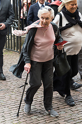 © Licensed to London News Pictures. 07/06/2017.  London, UK. JUNE WHITFIELD attends the Memorial Service of RONNIE CORBETT at Westminster Abbey. The entertainer, comedian, actor, writer, and broadcaster was best known for his long association with Ronnie Barker in the BBC television comedy sketch show The Two Ronnies. Photo credit: Ray Tang/LNP