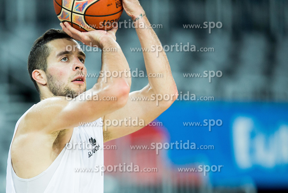Mitja Nikolic during practice session of Slovenia National Basketball Team 1 day prior to the FIBA Europe Eurobasket 2015, on September 4, 2015, in Arena Zagreb, Croatia. Photo by Vid Ponikvar / Sportida