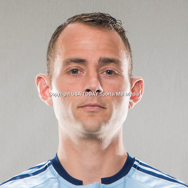 Feb 25, 2016; USA; Sporting Kansas City player Brad Davis poses for a photo. Mandatory Credit: Bert Thomas-USA TODAY Sports