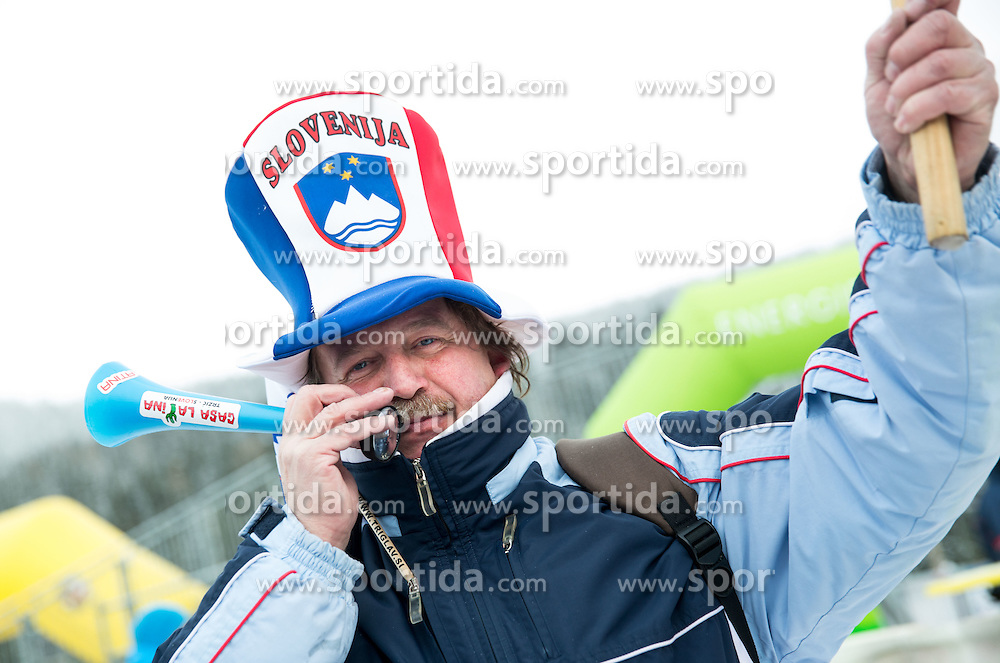 Supporter of Slovenia Zan Kosir during Men's Parallel Giant Slalom at FIS World Championships of Snowboard and Freestyle 2015, on January 23, 2015 at the WM Piste in Kreischberg, Austria. Photo by Vid Ponikvar / Sportida