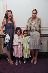 Left to right, NATASHA PLUNKETT-ERNLE-ERLE-DRAX her daughter CORDELIA PLUNKETT-ERNLE-ERLE-DRAX, LYLA ELICHAOFF and her mother TRINNY WOODALL at the Yota launch of Mikhailovsky Ballet's Swan Lake held at the London Coliseum, St.Martin's Lane, London on 13th July 2010.