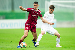 David Tijanić of Triglav vs Rijad Kobiljar of Rudar during Football match between NK Triglav and NK Rudar in 27th Round of Prva liga Telekom Slovenije 2018/19, on April 13, 2019, in Sports centre Kranj, Slovenia. Photo by Vid Ponikvar / Sportida