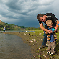 Derek and Tristan Beam. Peace River Valley, B.C.