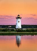 Edgartown Lighthouse at sunrise, Martha's Vineyard, USA.
