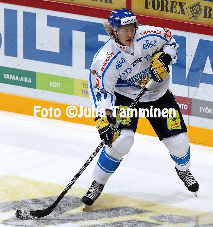 10.11.2011, Hartwall-Areena, Helsinki, Finland..Euro Hockey Tour - Karjala-turnaus 2011. Suomi - Venj / Finland v Russia..Ville Lajunen - Suomi..